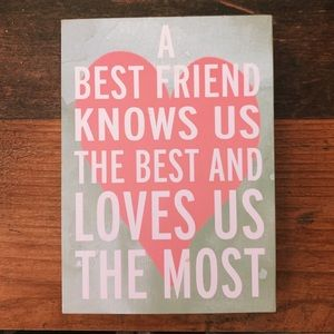 ⭐️Best Friend Wall Canvas⭐️
